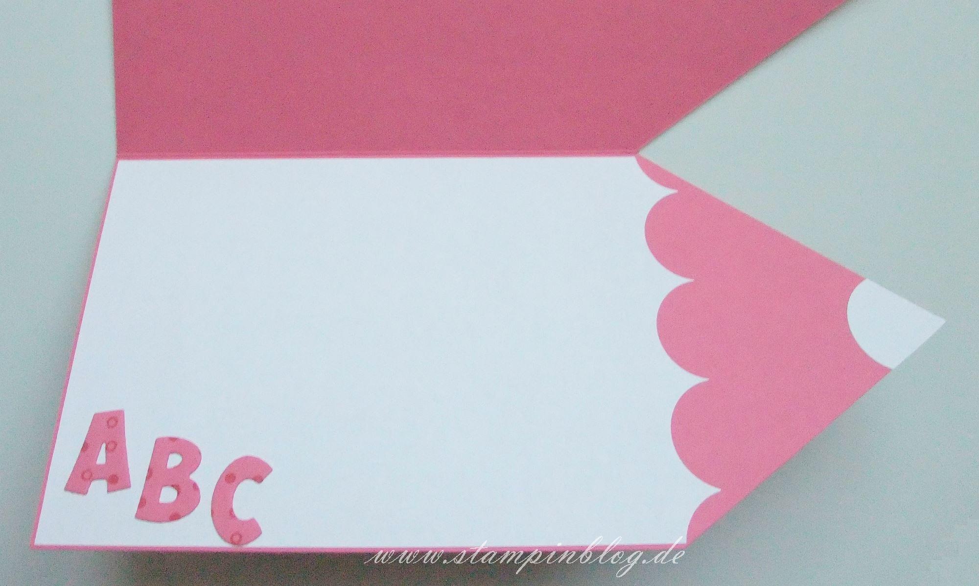 stiftkarte zur einschulung | stampinblog, Einladung