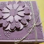 Geburtstagskarte + Verpackung mit dem Blütentraum