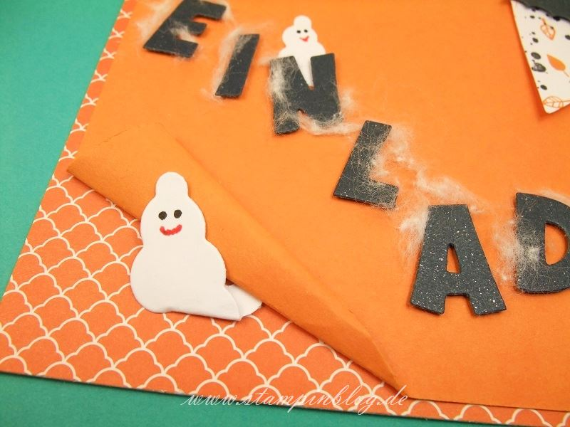 Halloween-Einladung-Kürbisgelb-Stampin-1