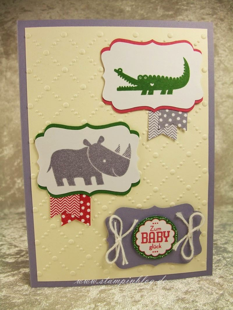 Geburt-Zoo-Babies-Gartengrün-Rosenrot-Blauregen-Stampin-1