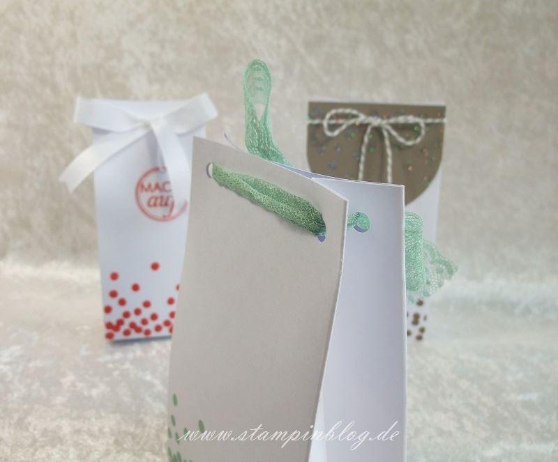 Geschenktüte-Tüte-Verpackung-Glitter-Heißklebepulver-Minzmakrone-Stampin-2