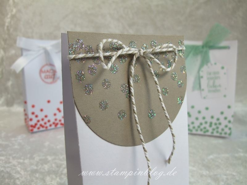 Geschenktüte-Tüte-Verpackung-Glitter-Heißklebepulver-Taupe-Stampin-2