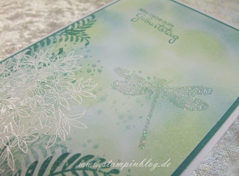 Geburtstag-Libelle-Awesomely-Artistic-Glitter-Lagunenblau-Pistazie-Stampin