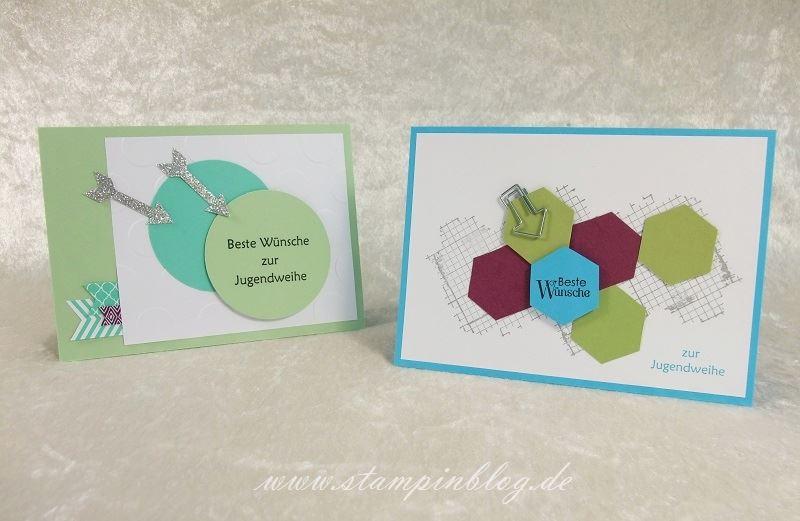 2 karten zur jugendweihe stampinblog. Black Bedroom Furniture Sets. Home Design Ideas