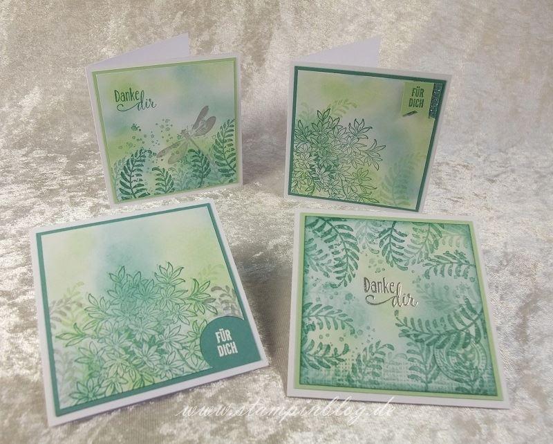 Karte-Danke-Awesomely-Artistic-Glitter-Silber-Lagunenblau-Jade-Stampin