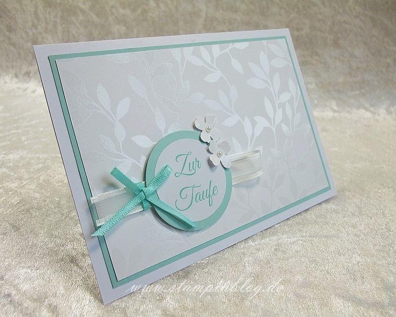 Taufe-SAB-Designerpapier-Aquamarin-Blume-Stampin