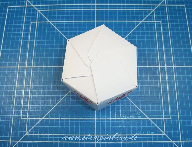 Anleitung-Hexagon-Box-Schachtel-Goddies-Stanzbrett-Falzbrett-Geschenktüten-Stampinblog-Stampin