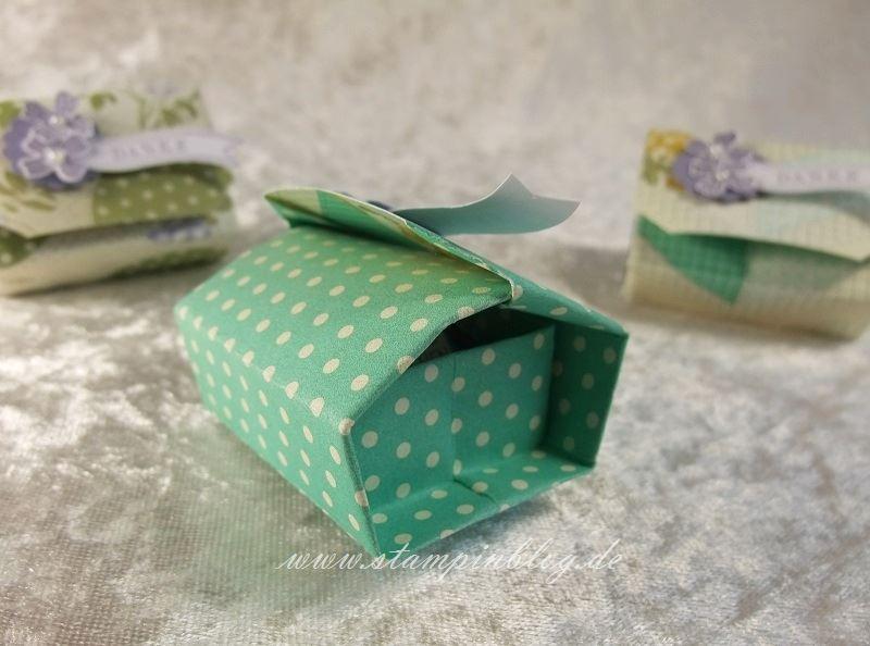 Verpackung-Goodie-Origami-Box-Blauregen-Verschluss-Jade-Stampin