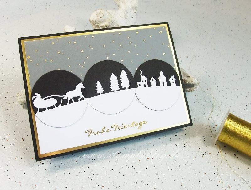 Weihnachten-Schlittenfahrt-Kling-Glöckchen-schwarz-gold-Stampinblog-Stampin