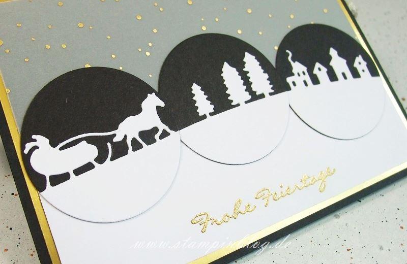 Weihnachten-Schlittenfahrt-Kling-Glöckchen-schwarz-gold-weiß-Stampinblog-Stampin-1