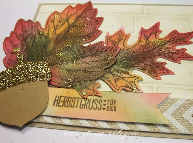 Herbst-Blätter-Eichel-Glitzer-chili-waldmoss-ockerbraun-Stampinblog-Stampin