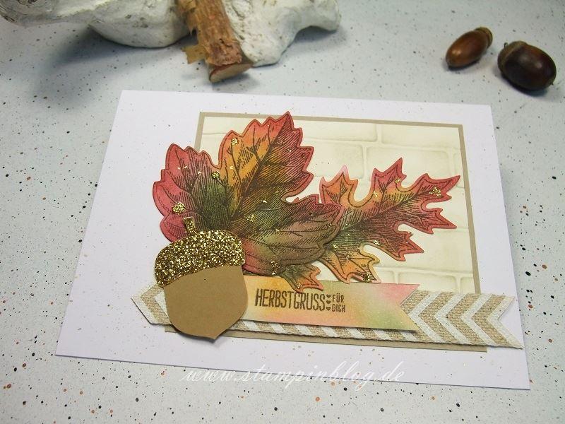 Herbst-Blätter-Eichel-chili-glitzer-waldmoss-ockerbraun-Stampinblog-Stampin