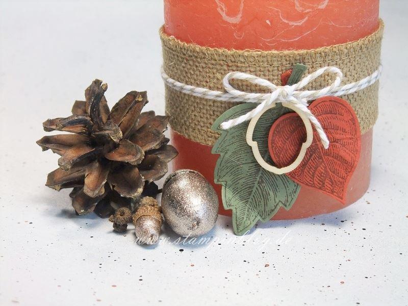 Herbst-Dekoration-Deko-Blätter-Eicheln-Jute-Stampinblog-Stampin