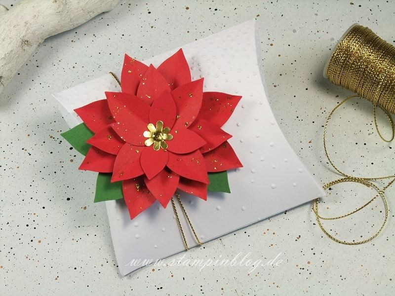 Verpackung-Pillow-Box-quadratisch-square-Weihnachtsstern-Stampinblog-Stampin