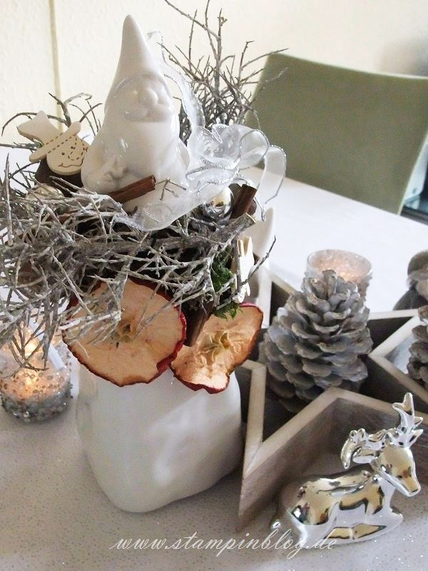 Weihnachten-Advent-Deko-Tischdeko-Schneemann-Kerze-Stampinblog
