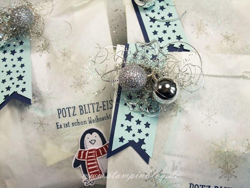 Verpackung-Weihnachten-Advent-Geschenktüte-Tüte-Pergamintüte-Pinguin-Silber-Stampinblog-Stampin