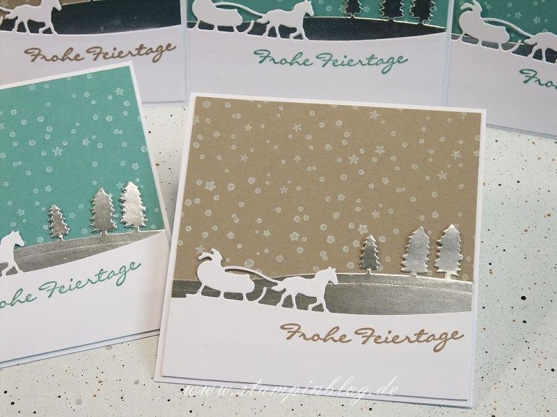 Weihnachten-Weihnachtskarte-Schlittenfahrt-Edgelits-es-schneit-taupe-Stampinblog-Stampin