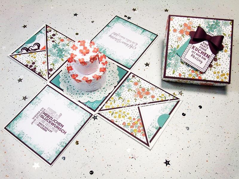 Verpackung-Explosion-Box-Geburtstag-Torte-Bormbeermousse-Calypso-Stampinblog-Stampin