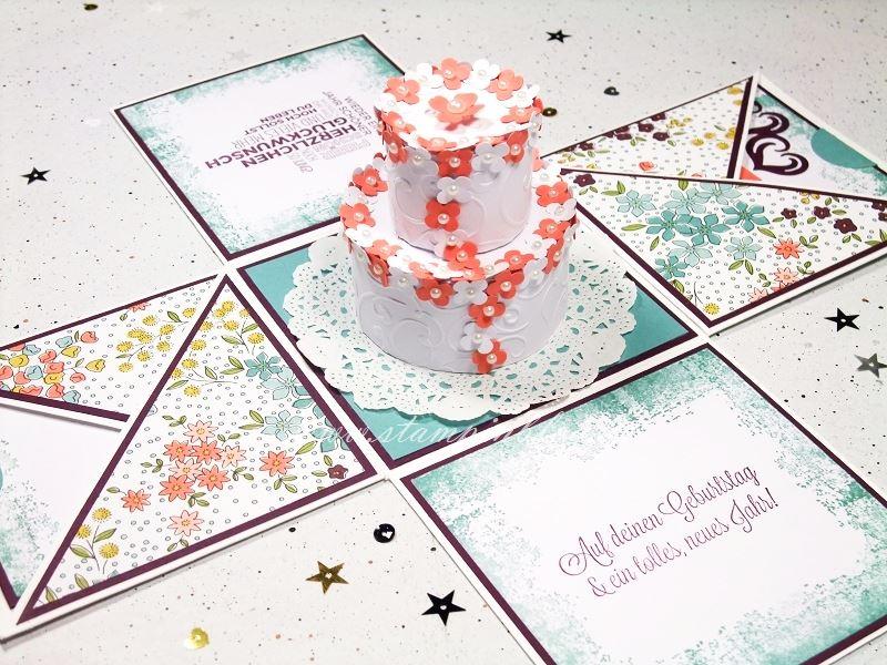 Verpackung-Explosion-Box-Geburtstag-Torte-Lagunenblau-Calypso-Stampinblog-Stampin