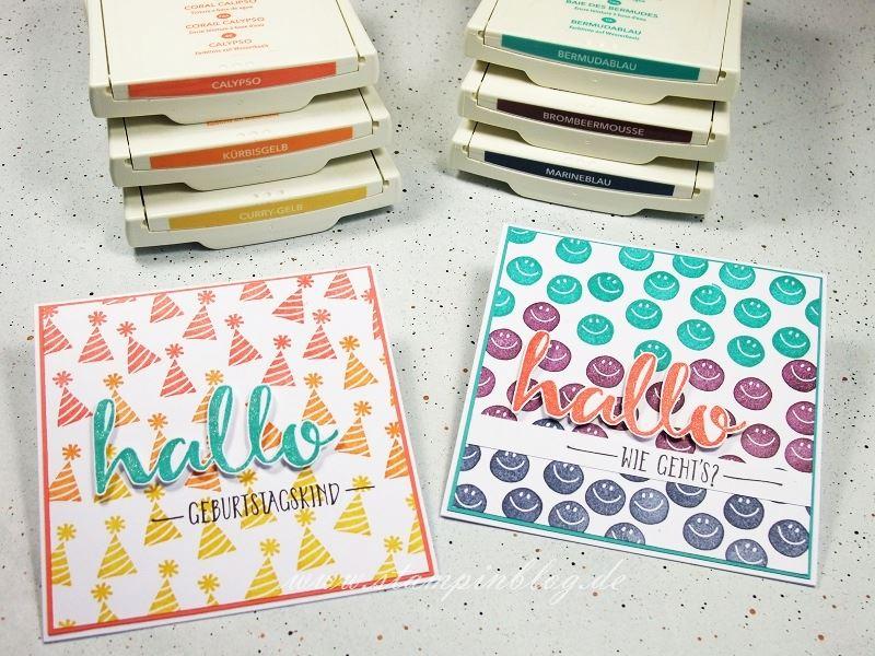 Geburtstag-Party-Hallo-Hintergrund-Regenbogen-Bermudablau-Calypso-Brombeermousse-Stampinblog-Stampin