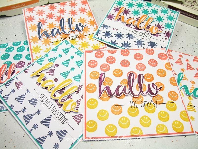 Geburtstag-Party-Hallo-Hintergrund-Regenbogen-Kürbisgelb-Calypso-Curry-Gelb-Stampinblog-Stampin