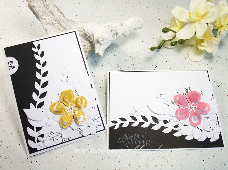 Gebrutstag-Karte-Botanical-Blooms-schwarz-weiß-Stampinblog-Stampin