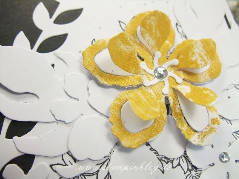 Gebrutstag-Karte-Botanical-Blooms-schwarz-weiß-curry-gelb-Wink-Stella-Stampinblog-Stampin