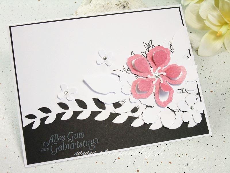 Gebrutstag-Karte-Botanical-Blooms-schwarz-weiß-wassermelone-Wink-Stella-Stampinblog-Stampin