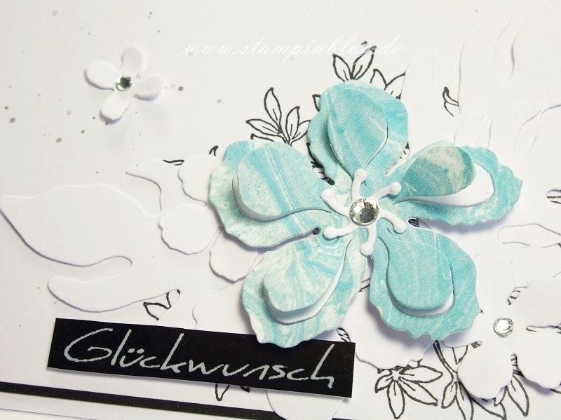 Geburtstag-Glückwunsch-Blumen-schwarz-weiß-türkis-Botanical-Blooms-Awesomely-Stampinblog-Stampin