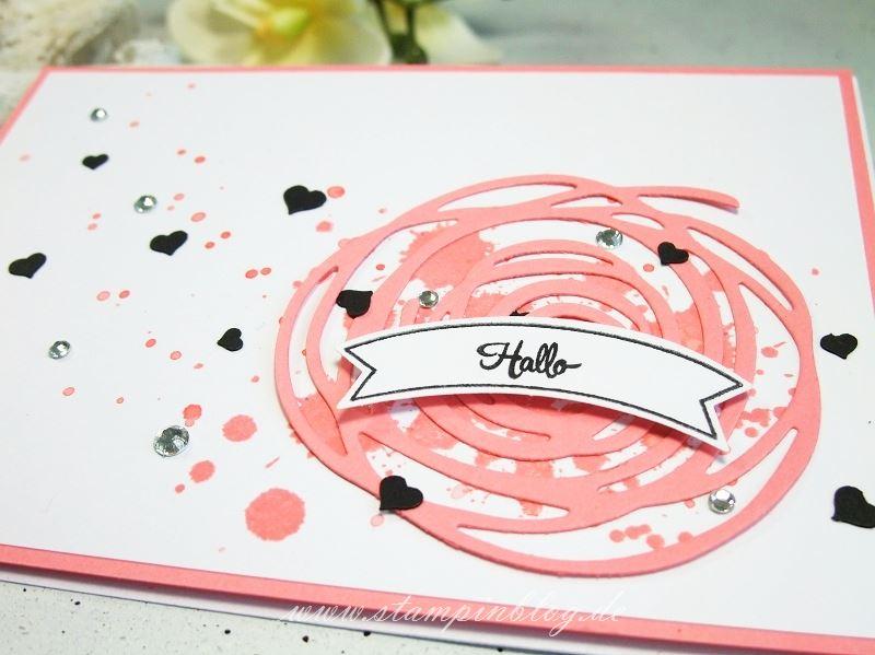 Geburtstag-Grüße-Karte-Wunderbar-Verwickelt-Flamingorot-Stampinblog-Stampin