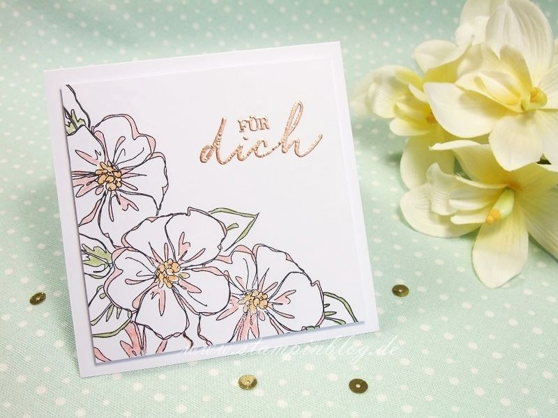Geburtstag-Glückwunsch-Blumen-Penned-Painted-Embossed-Kupfer-Stampinblog-Stampin