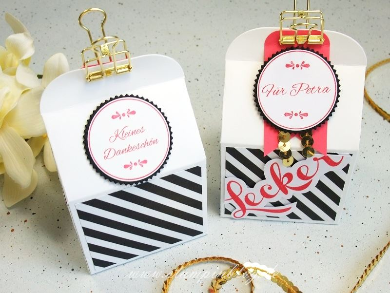 Verpackung-Goodies-Box-Leckereien-Bakers-Danke-schwarz-gold-Stampinblog-Stampin