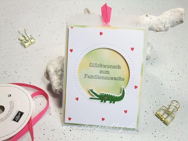 Baby-Geburt-Krokodil-Zoo-Babies-farngrün-safrangelb-Stampinblog-Stampin