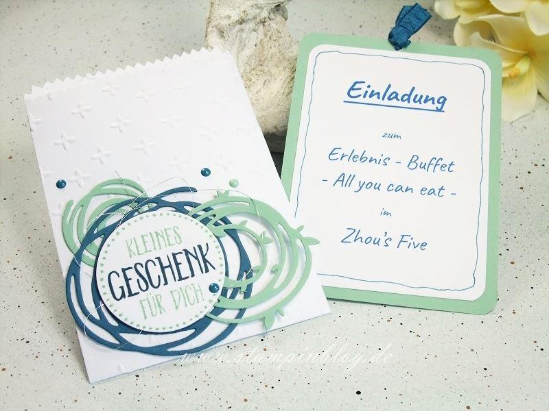 Einladung-Gutschein-Geburtstag-wunderbar-verwickelt-Swirls-jeansblau-minzmakrone-Stampinblog-Stampin