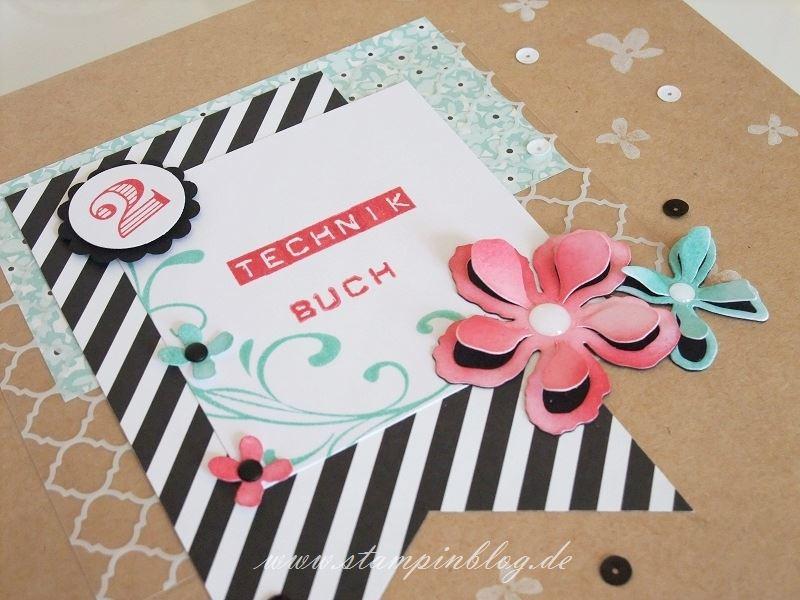 Technik-Buch-Technikbuch-2-Cover-Einband-Pailletten-wassermelone-schwarz-Stampinblog-Stampin