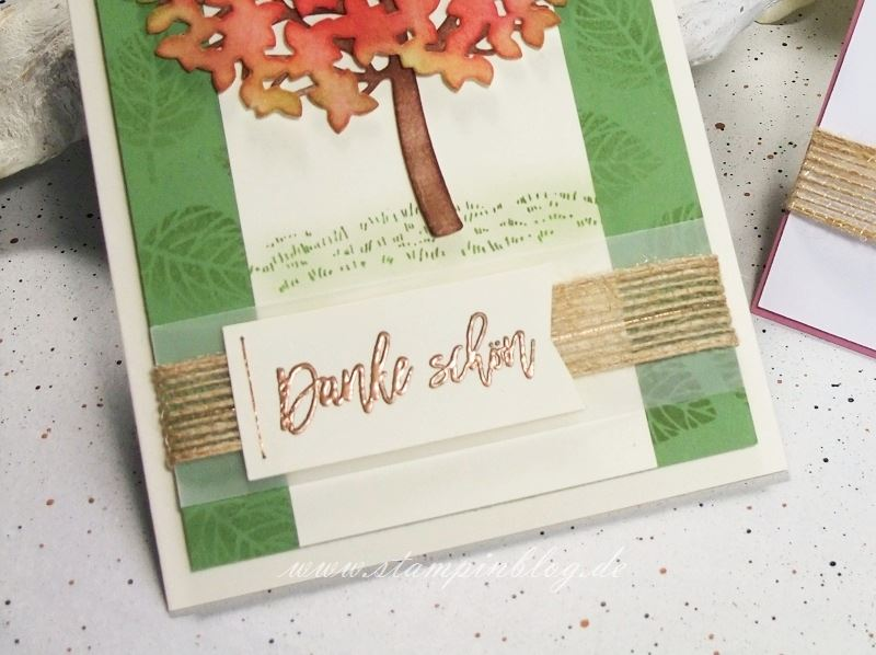 Wald-der-Worte-Baum-Herbst-Blätter-Kupfer-Garn-Metallic-Embossing-Grüsse-Stampinblog-Stampin