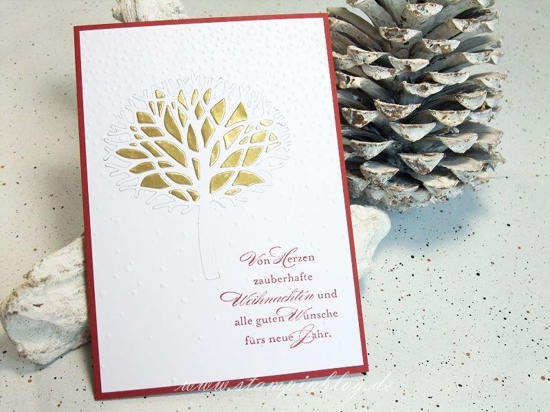 Wald-der-Worte-Weihnachten-Winter-Baum-Schnee-Schneeflocken-Gold-prägen-Stampinblog-Stampin