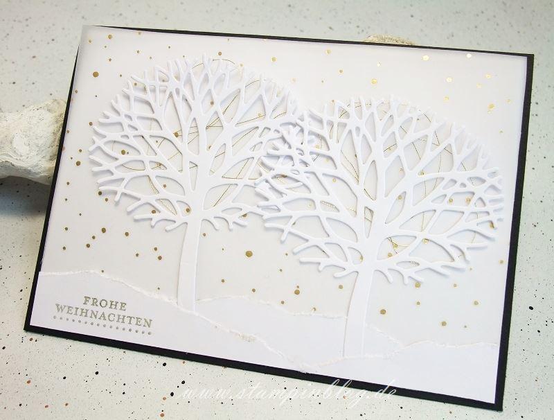 Wald-der-Worte-Weihnachten-Winter-Baum-Schneeflocken-Gold-Stampinblog-Stampin