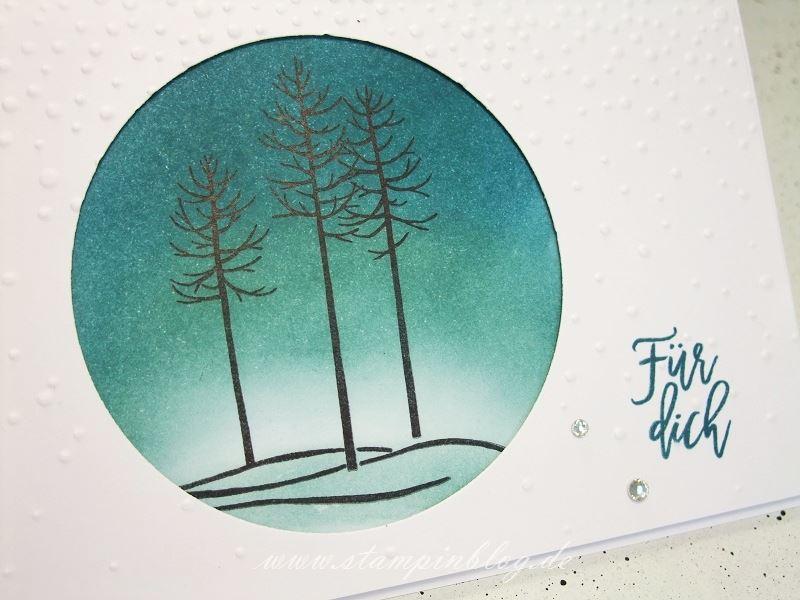 Wald-der-Worte-Winter-Landschaft-Winterlandschaft-Schnee-Schneeflocken-Baum-Grüssel-prägen-Stampinblog-Stampin