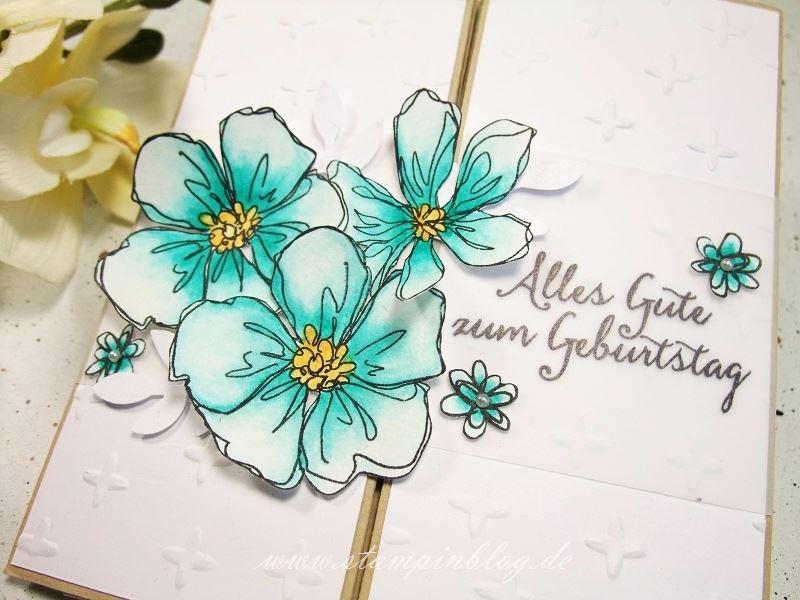 Gutschein-Geburtstag-Box-Card-Karte-Blumen-Perlen-bermudablau-Stampinblog-Stampin