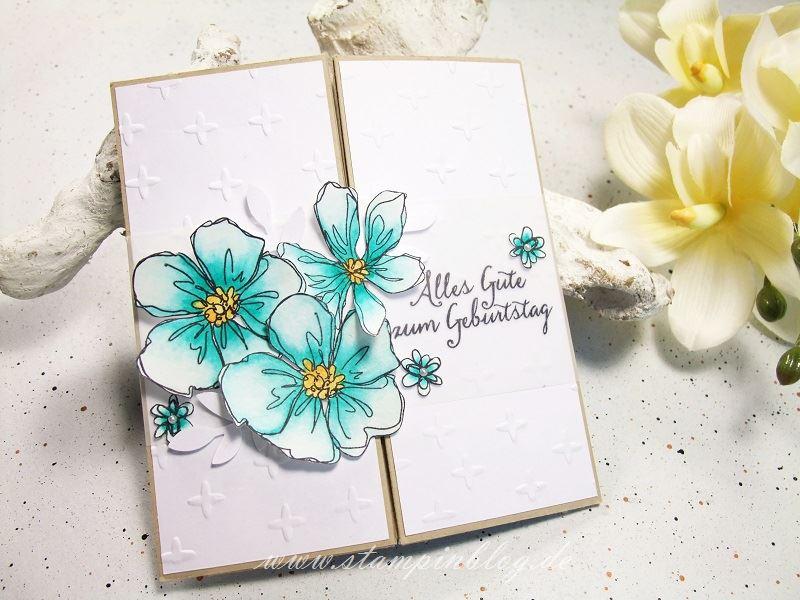 Gutschein-Geburtstag-Box-Card-Karte-Blumen-bermudablau-Stampinblog-Stampin