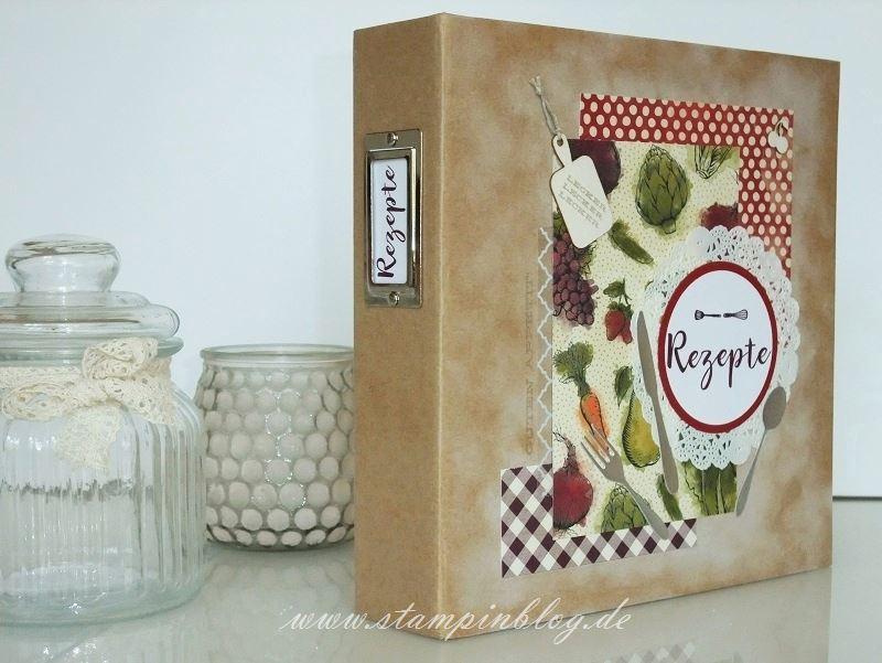 Rezeptbuch-Rezepte-Cover-gestalten-Buch-Küche-Project-Life-Recieps-Stampinblog-Stampin