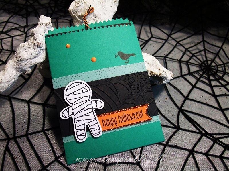 Halloween-Einladung-Gruss-Mini-Leckereientüte-Mumie-Raabe-Stampinblog-Stampin