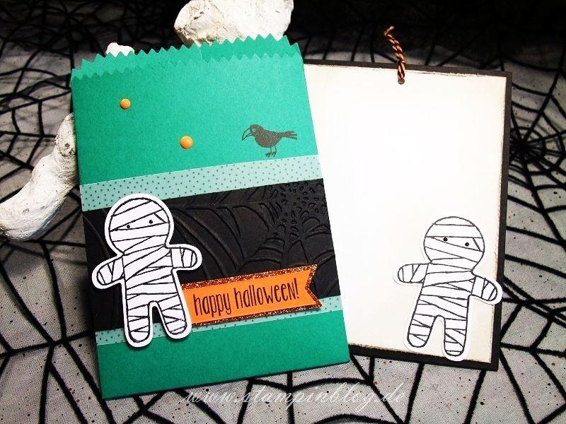 Halloween-Einladung-Gruss-Mini-Leckereientüte-Raabe-Mumie-Stampinblog-Stampin