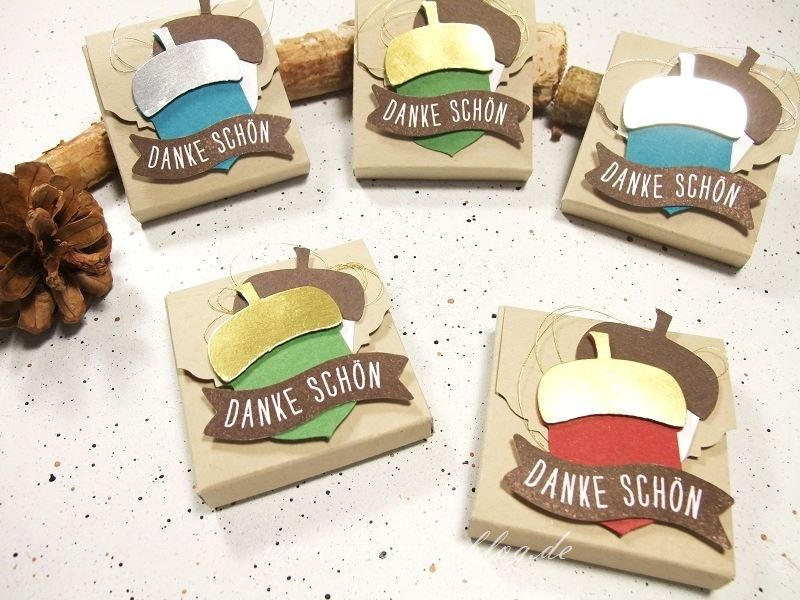 Verpackung-Goodie-Gastgeschenk-Danke-Eichel-Herbstgrüsse-Gold-Silber-Stampinblog-Stampin