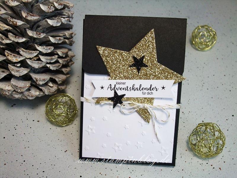 Adventskalender-to-go-schwarz-gold-Stern-Stampinblog-Stampin