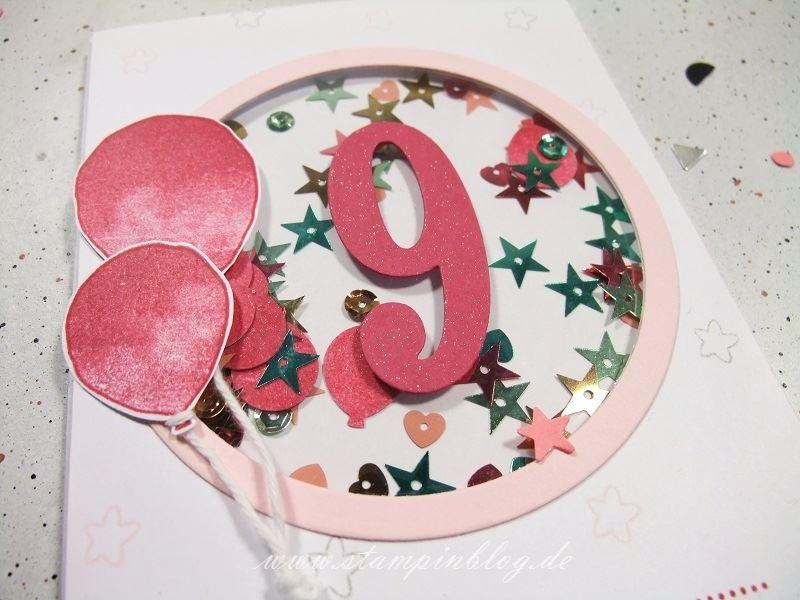 Geburtstag-Glückwunsch-Karte-Zahl-Mädchen-Luftballon-Pink-Stampinblog-Stampin