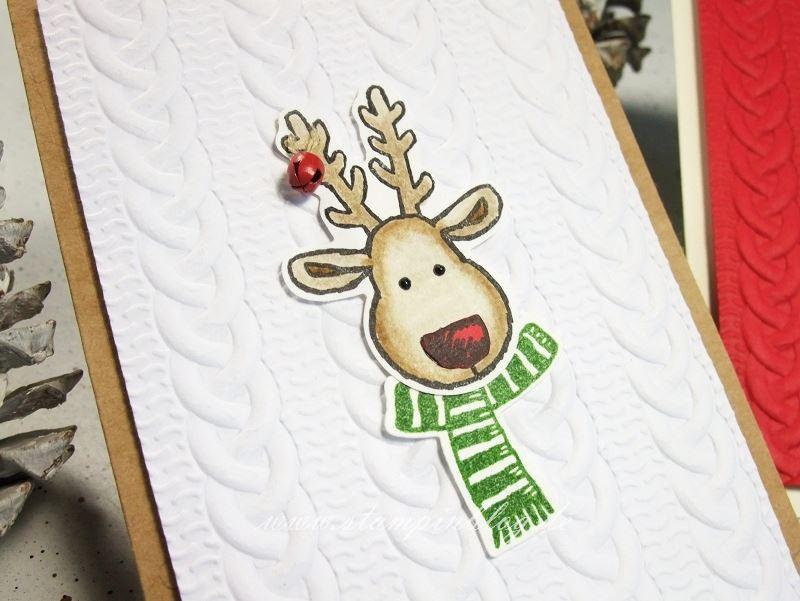Weihnachten-Weihnachtskarte-Elch-Strickmuster-Glocke-Stampinblog-Stampin