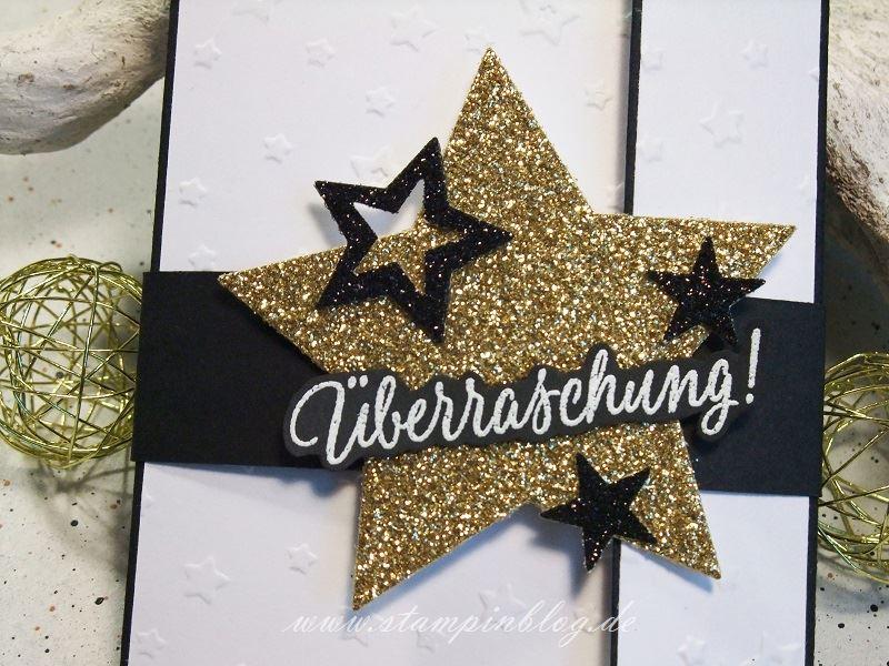 Weihnachten-Gutschein-Karte-Sterne-embossing-gold-schwarz-Stampinblog-Stampin