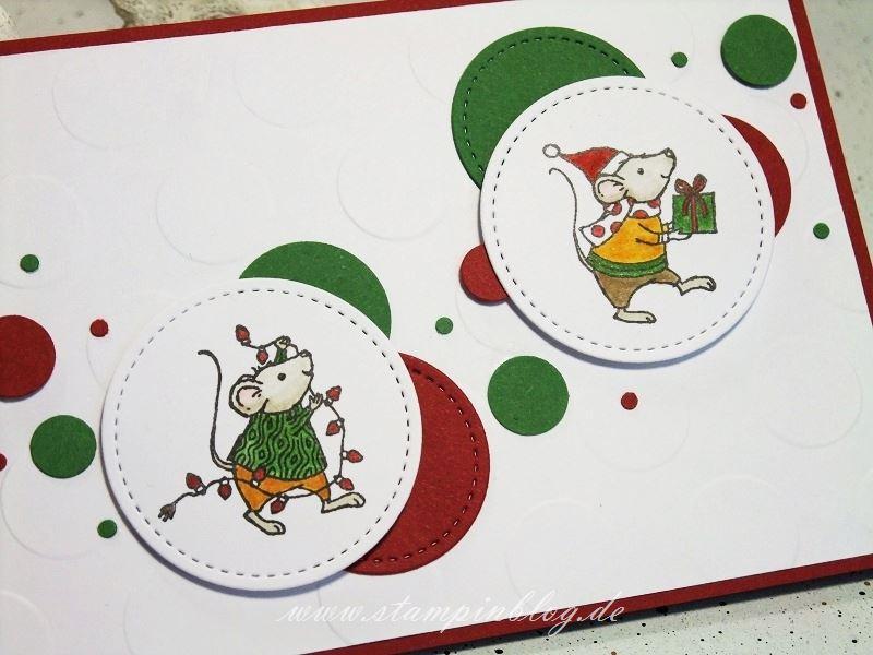Weihnachten-Maus-Mäuse-Merry-Mice-Mouse-rot-grün-Stampinblog-Stampin